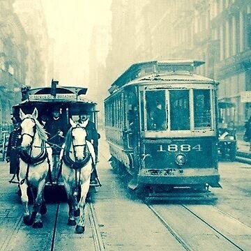 Tram & Horse Drawn Cart  by BindysBags