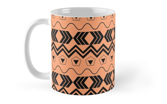 Orange & Black Tribal Pattern by Exceptionally Beautiful