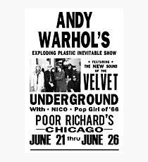 Andy Warhols Velvet Underground Fotodruck