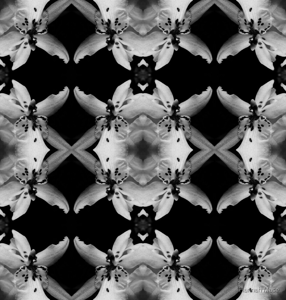 Abstract Mirror Floral Pattern by steelyhan