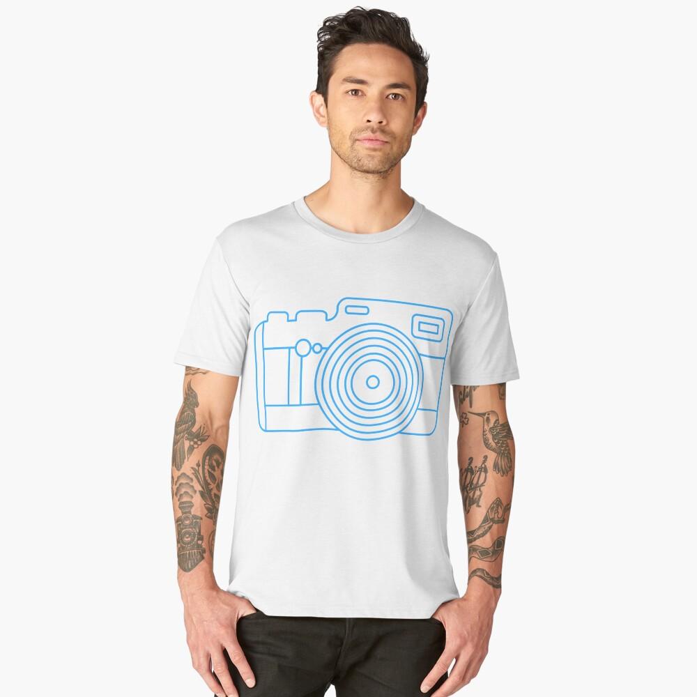 Camera Tourist funny shirt zoom lens photographic paparazi negative frame flash develop Men's Premium T-Shirt Front