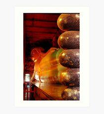 Reclining Budda at Wat Pho Art Print