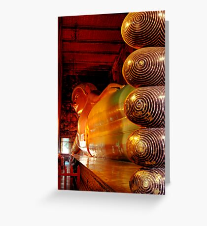 Reclining Budda at Wat Pho Greeting Card