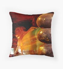Reclining Budda at Wat Pho Throw Pillow
