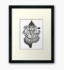 Ganesh Elephant Hindu God of Beginnings Framed Print