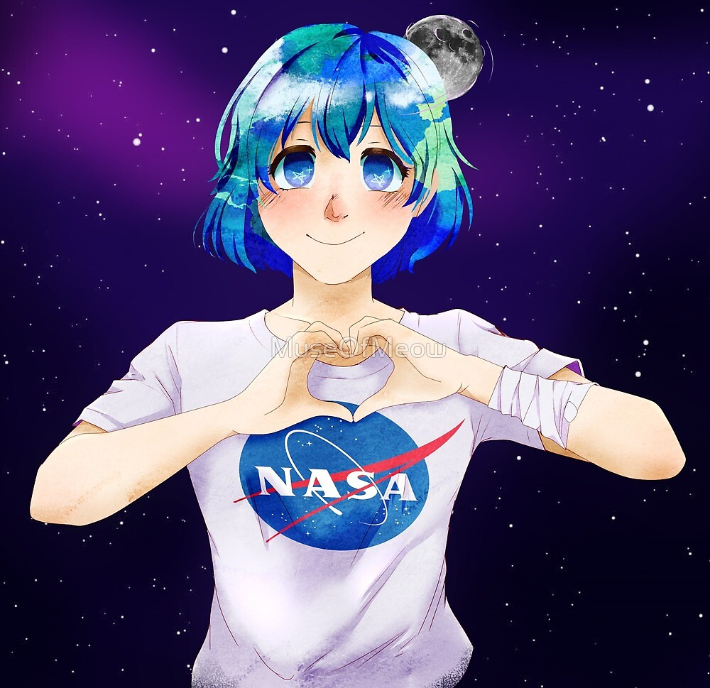 Earth-Chan by MuseOfMeow