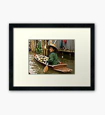 Coconut Milk Boat Framed Print