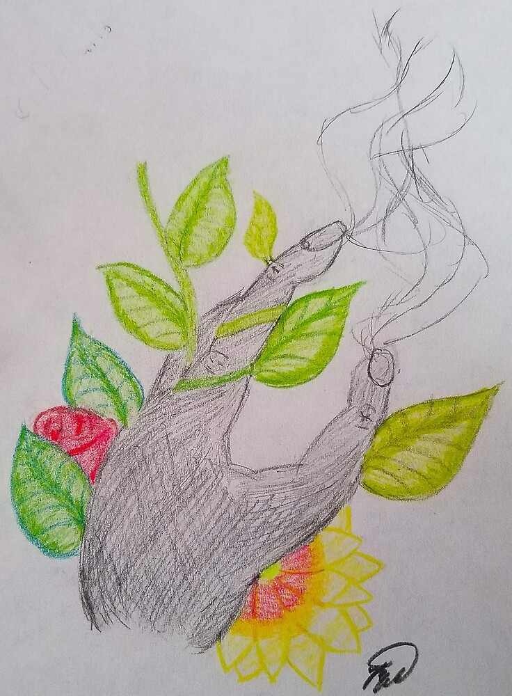 Floral hand by Lilsis101