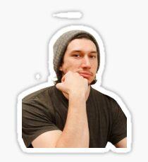 adam driver - beanie 1/2 Sticker