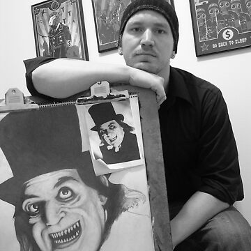 Me and one of my drawings by AdamSchneider
