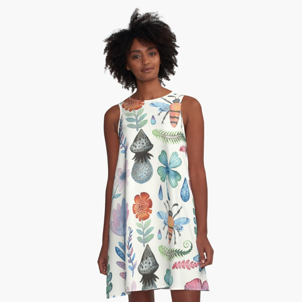 Enchanted Meadow A-Line Dress Front