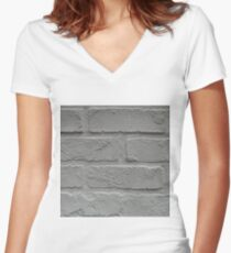 Anitque, White Women's Fitted V-Neck T-Shirt