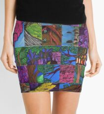 Scattered collection of pieces Mini Skirt