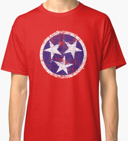Grunge State Flag Of Tennessee Classic T-Shirt