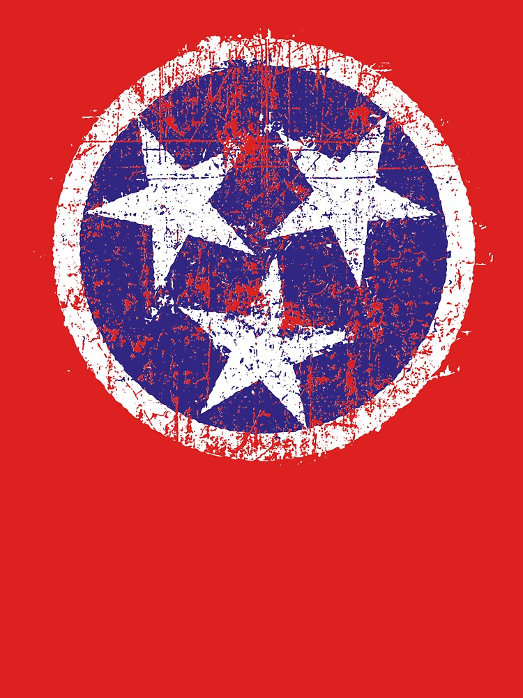 Grunge State Flag Of Tennessee by Chocodole