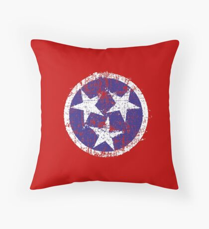 Grunge State Flag Of Tennessee Throw Pillow