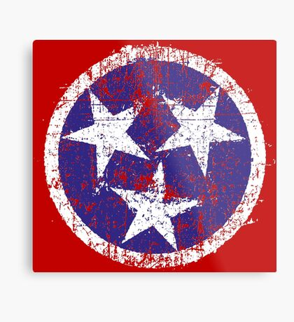 Grunge State Flag Of Tennessee Metal Print