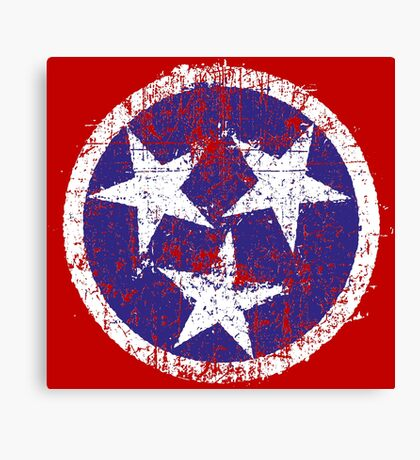 Grunge State Flag Of Tennessee Canvas Print