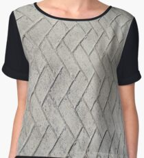 Bricks, background, patterns, grey, gray, cement, concrete, textures Chiffon Top