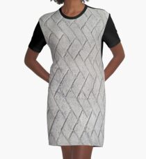 Bricks, background, patterns, grey, gray, cement, concrete, textures Graphic T-Shirt Dress