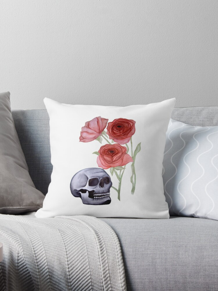 Skull and Roses by thatgirlelora