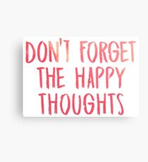 Dont forget the happy thoughts - Chance the Rapper Metal Print