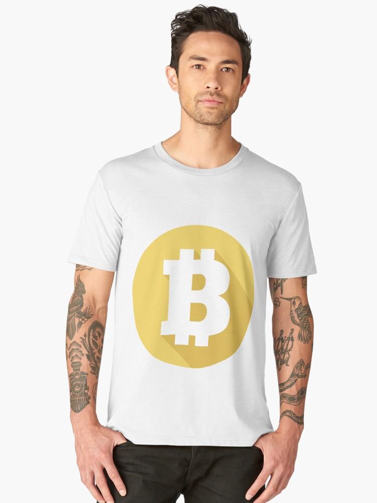 Bitcoin Logo Men's Premium T-Shirt Front
