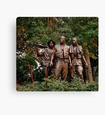 The Three Servicemen - Vietnam Memorial Canvas Print