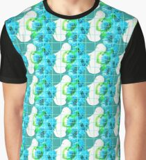 Let Intersex Boys have Flowers! (Vivid Blues) Graphic T-Shirt
