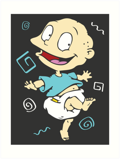 Tommy Pickles Rugrats Art Prints By Nsissyfour Redbubble