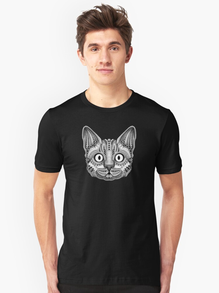 egypt cat with detail aztec pattern Unisex T-Shirt Front