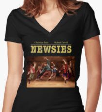 newsies Women's Fitted V-Neck T-Shirt