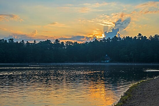 Walden Pond Sunrise Concord MA by WayneOxfordPh