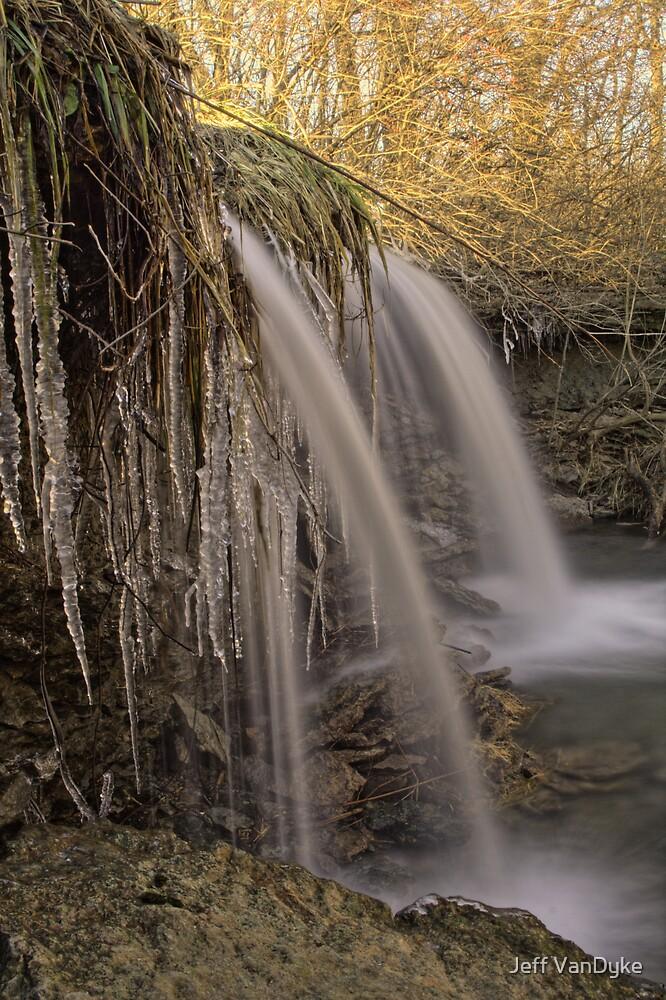Brouillettes Creek - Icy Waterfall by Jeff VanDyke