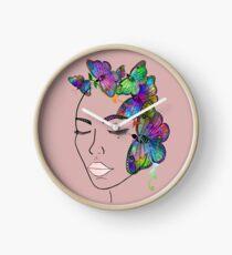Madam Butterfly Clock