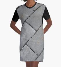 Gray rectangular blocks Graphic T-Shirt Dress