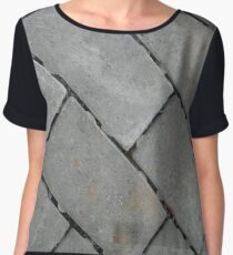 Gray rectangular blocks Chiffon Top