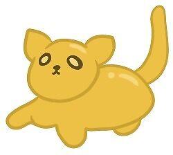 gummy kitty (orange) by seaspriite