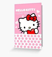 Hello Kitty I love you Greeting Card