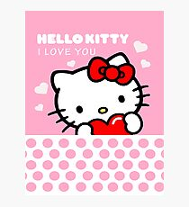 Hello Kitty I love you Photographic Print