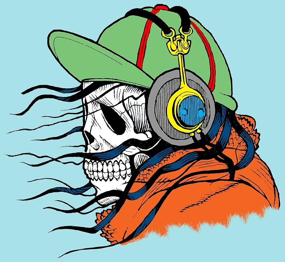 Headphones skull by melaniec79