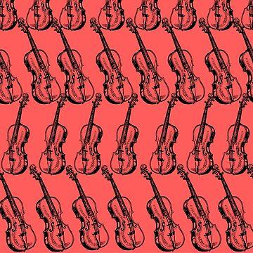 Repetitive Violin Art by jasmineann
