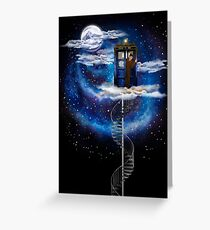 The man who lives on the cloud Greeting Card