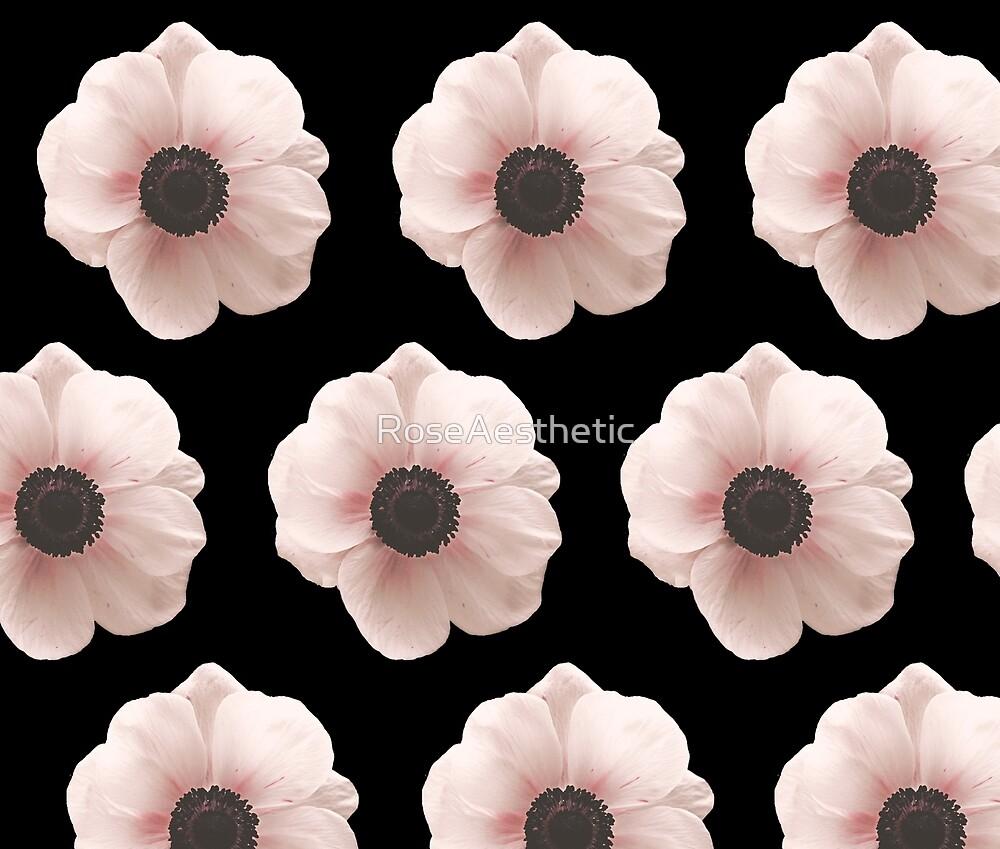 Blush poppies - ebony by RoseAesthetic