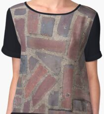 Surfaces, brick, wall, unstandard, pattern Chiffon Top