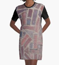 Surfaces, brick, wall, unstandard, pattern Graphic T-Shirt Dress