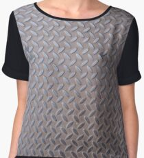 Surfaces, metal, pattern,  door,  basement Chiffon Top