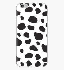 Animal Print (Kuh Print), Kuhflecken - White Black iPhone-Hülle & Cover