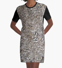 Surfaces, woody, mulch, broken, sticks, ground Graphic T-Shirt Dress