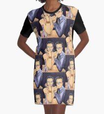 Art Deco Decanter Graphic T-Shirt Dress